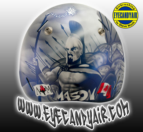 Chris Mason goalie mask by EYECANDYAIR