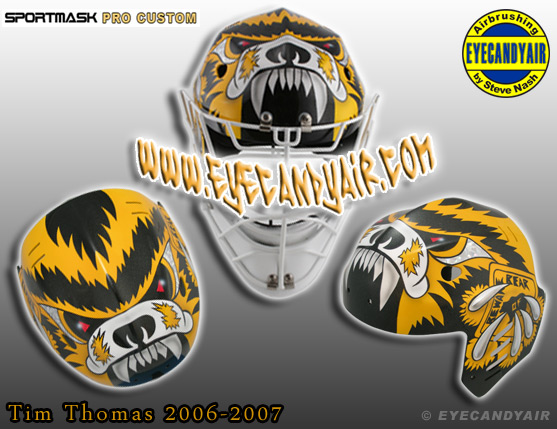 Tim Thomas Custom Painted Sportmask 2006-2007 Mage by EYECANDYAIR