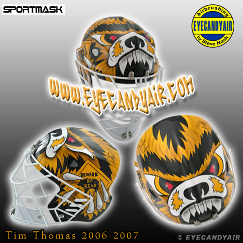 Tim Thomas Custom 2007 Painted Sportmask Pro Custom Mage by EYECANDYAIR