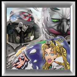 EYECANDYAIR airbrushed Goalie Mask Archive Other Themed Goalie Masks