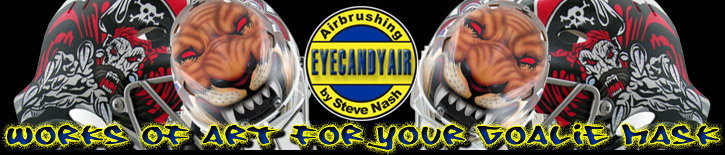EYECANDYAIR Goalie Mask and Helmets Painting Official Banner